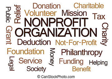 Nonprofit Organization Word Cloud