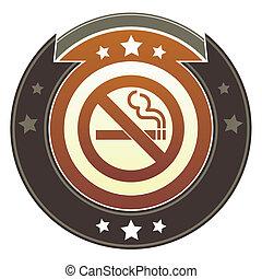 Nonsmoking imperial button
