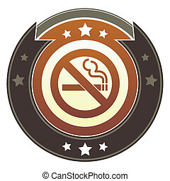Nonsmoking imperial button