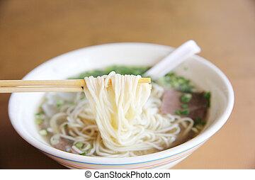 noodle chinês, sopa