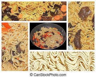 Noodle collage