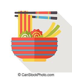 noodle flat icon