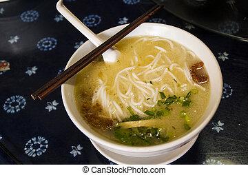 Noodle - Kunming famous food called Crossing the bridge ...