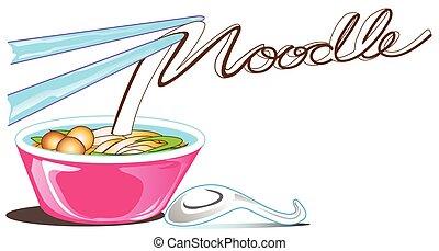 Calligraphy noodle logo symbol cartoon design for your business Advertisement logo symbol name card brochure banner