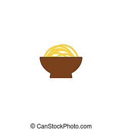 Noodle on a bowl graphic template
