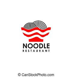 Noodle restaurant with bowl icon vector illustration