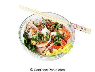 Noodle Soup - Bowl of Phonom penh noodle soup Vietnamse food
