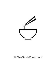 Noodle logo template vector icon design