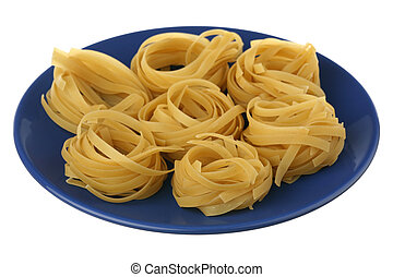 Noodles on a plate