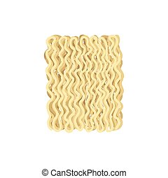 Noodles on white background. Vector flat illustration.