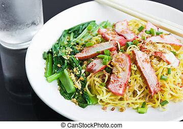 Noodles Pork. - Noodles Pork of Chinese food