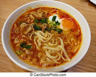 Noodles with a Soft-boiled egg
