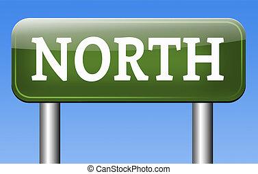 noorden, meldingsbord