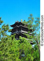 noorden, tempel, pool, 1173