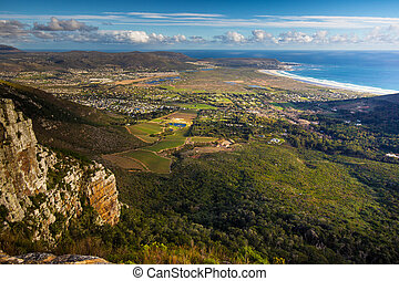 Noordhoek beach from Silvermine - View of Noordhoek Beach...