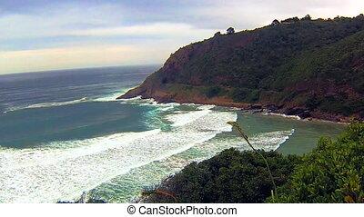 Noordhoek Beach South Africa. - Ocean waves in Noordhoek...
