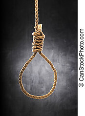 Noose - Old rope with hangman's noose.