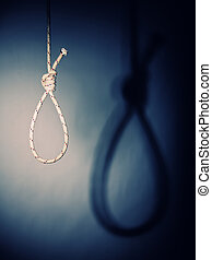 noose - fine image of classic noose and shadow