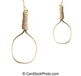 nooses isolated on white