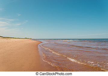 nord, île, rue., rivage baie, edward, peters, plage, prince