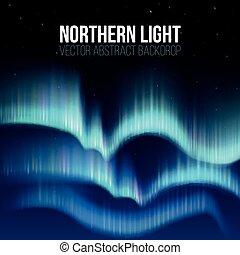 nord, arctique, lumières, poteau, fond, nuit, canada, résumé...