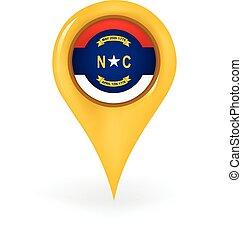 nord, emplacement, caroline
