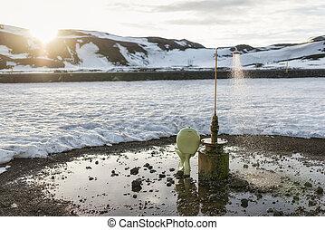 nord-est, toilette, extérieur, islande