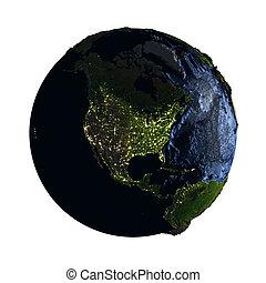 nord, isolato, notte, terra, bianco, america