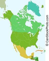 nord, länder, amerika