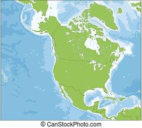 nord, mappa, america