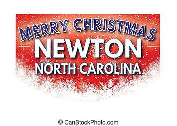 nord, newton, salutation, joyeux noël, carte, caroline