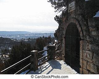 nord, pyatigorsk, grotto., repères, lermontovs, caucas