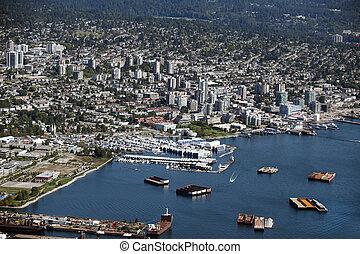 nord, résidentiel, -, rivage, vancouver, port