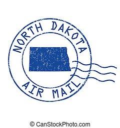 nord, timbre, bureau, air, dakota, courrier, poste