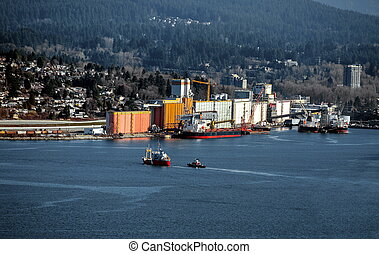nord, vancouver, port, mer