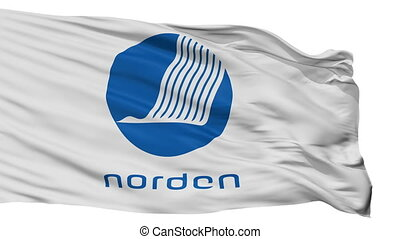 Nordic Council Flag Isolated Seamless Loop - The Nordic...