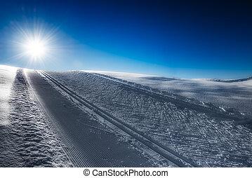Nordic ski slope