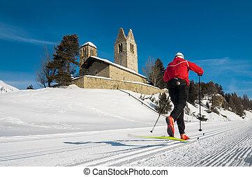Nordic ski in the engadine valley