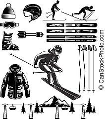 Nordic Skiing Vintage Elements
