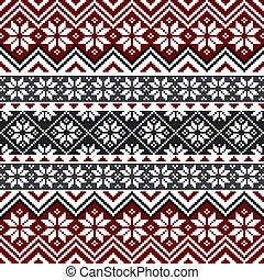 Nordic snowflake pattern - Nordic traditional pattern with...