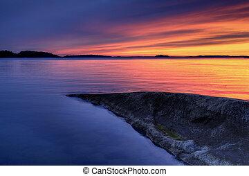 Nordic sunset.