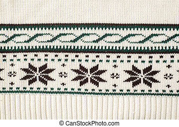 nordic traditional style pattern knitted fabric