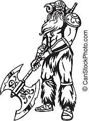 Nordic viking - vector illustration. Vinyl-ready.
