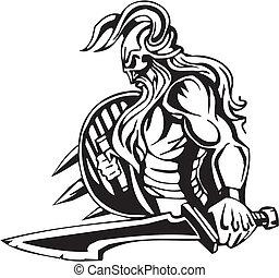 Nordic viking - vector illustration. Vinyl-ready. - Nordic ...