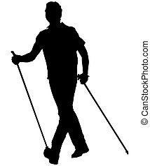 nordic walking man