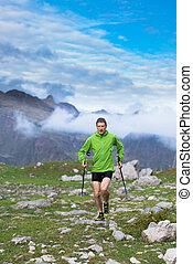 nordic walking mountain