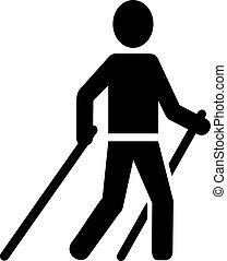 Nordic Walking pictogram