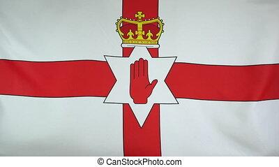 nordirland, fahne, echte , stoff