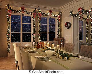 Decoration Ubertragung Nordisch Kueche Weihnachten 3d