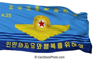 nordkorean, völker, armee, luftwaffe, fahne, freigestellt,...